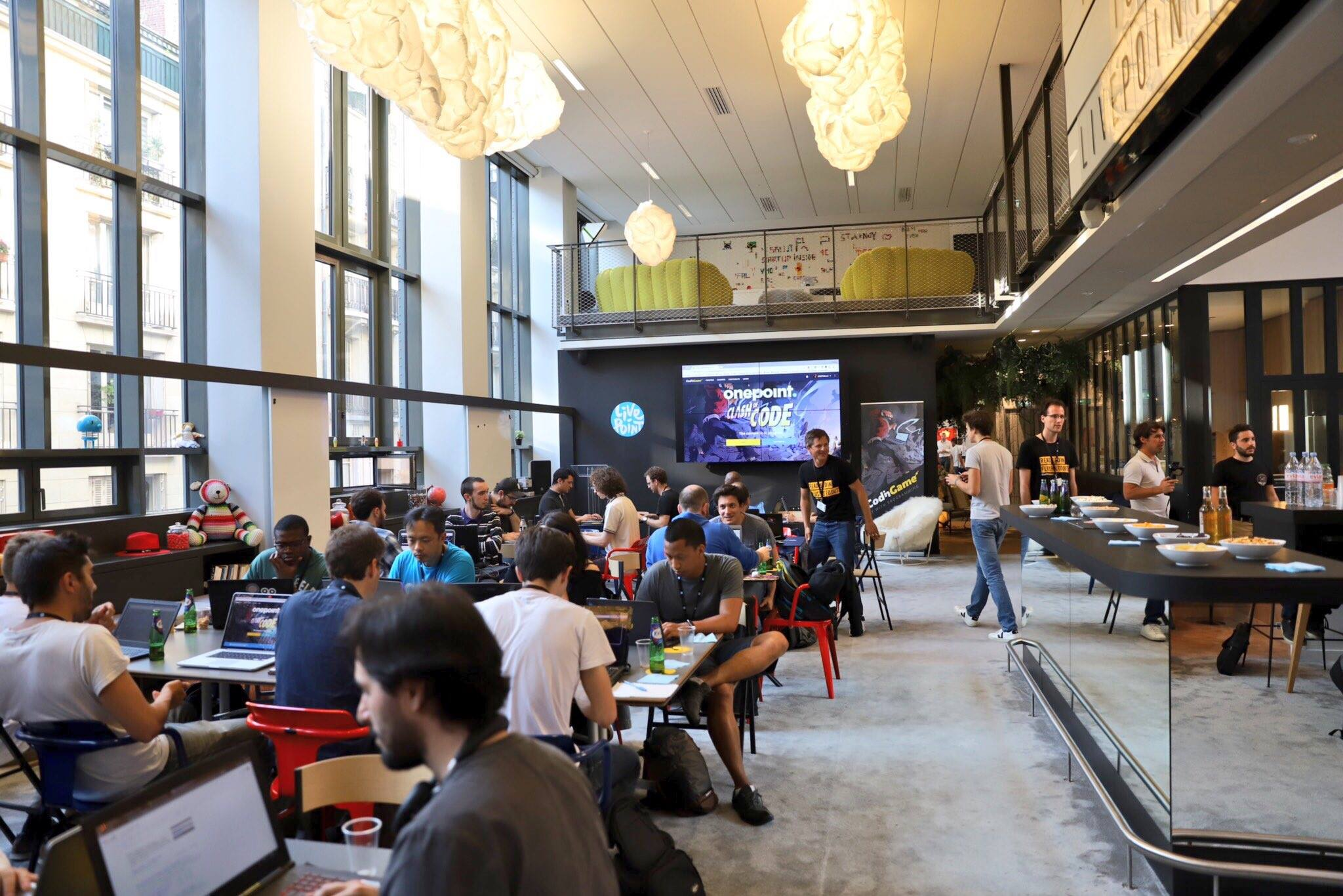 Amazing venue at Onepoint to play Clash of Code