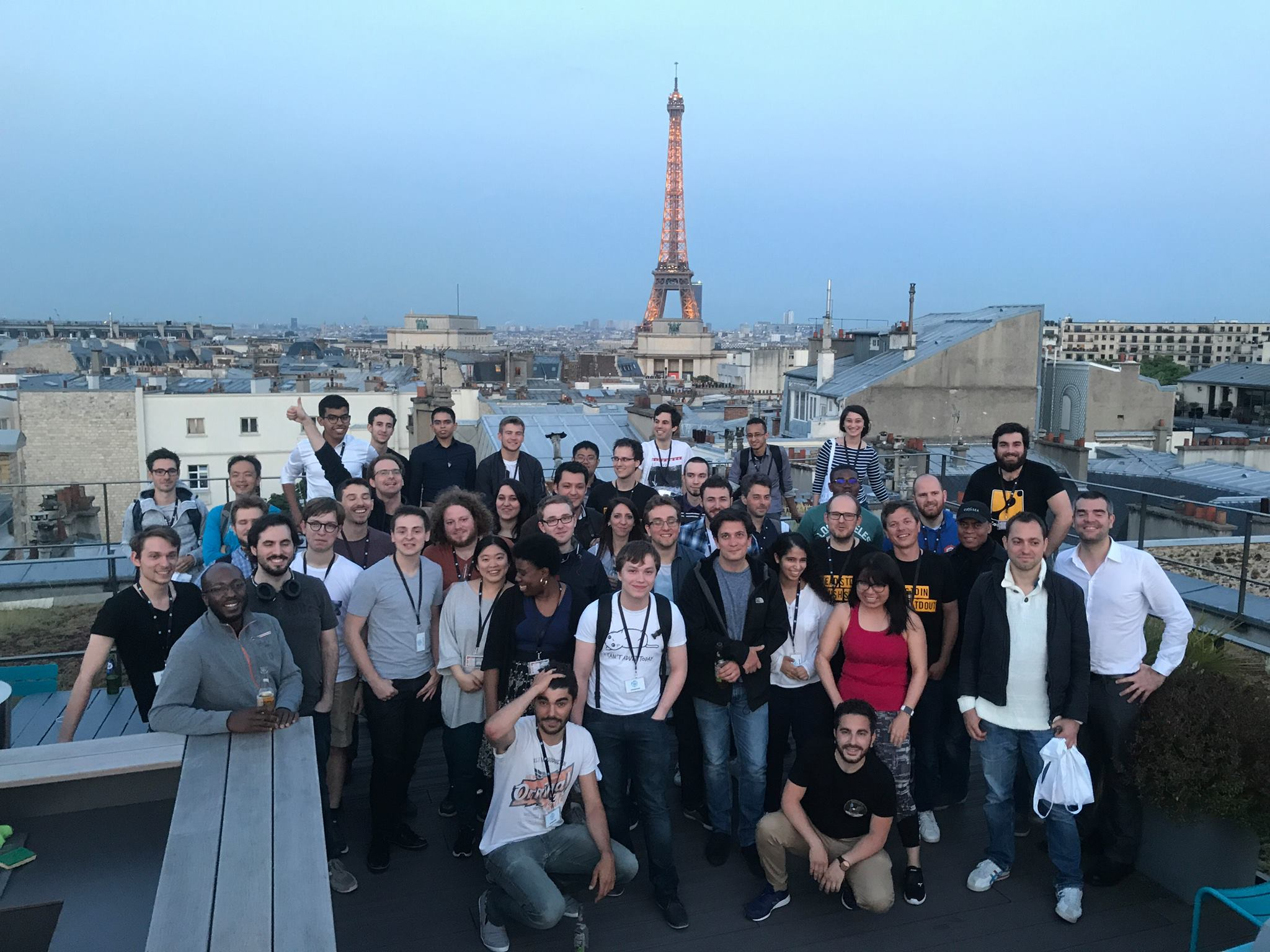 View on the Eiffel Tower with CodinGamers at Onepoint