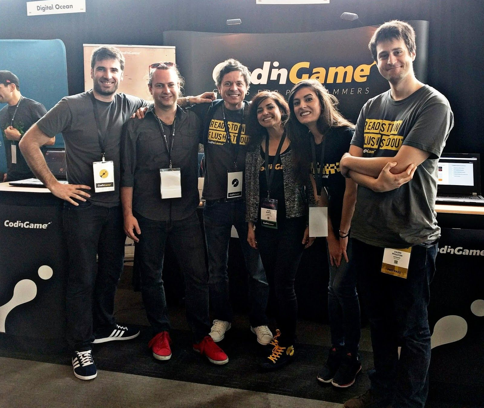 CodinGame team with Brandon at DeveloperWeek