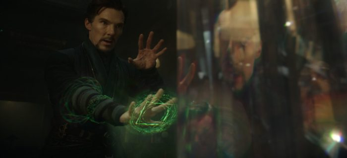 Doctor strange looking into the future