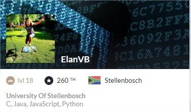 ElanVB's profile card