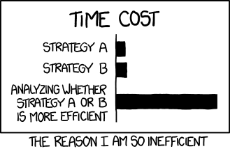 Time Cost by xkcd