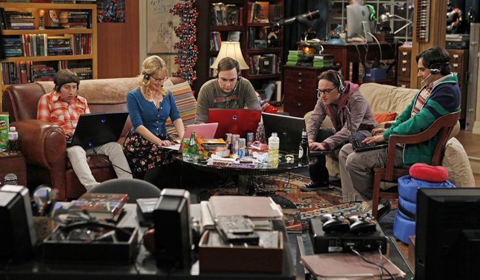 game night in Big Bang Theory