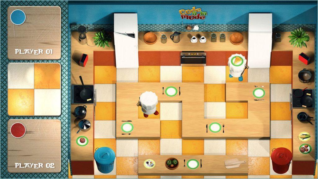 kitchen draft view of Code a la Mode