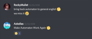 discord screenshot: Make Automaton Work Again