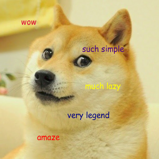 doge meme: wow, such simple