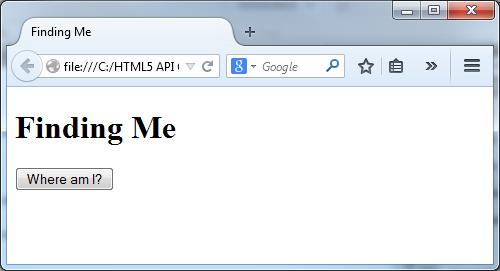 HTML Geolocation