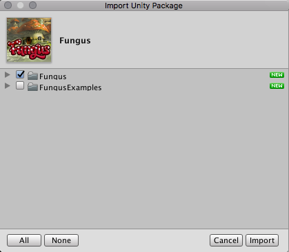 Importing Fungus