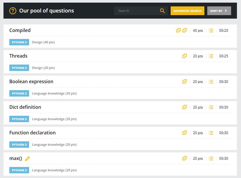 CodinGame Assessment custom questions